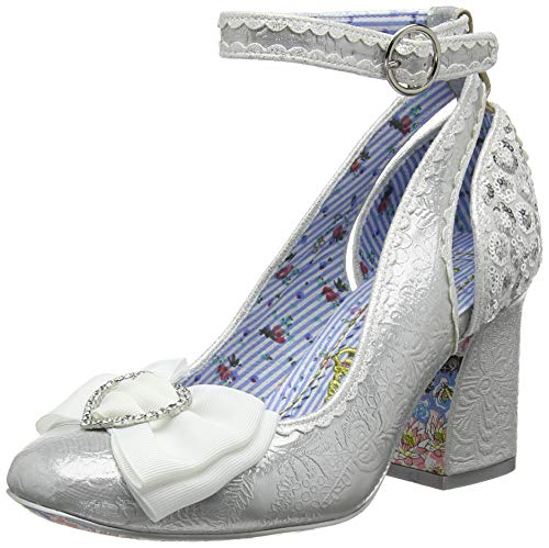 Irregular Choice Deity, Zapatos de Boda para Mujer, Blanco (White A), 39 EU