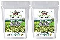 Healthsootra Organic Pumpkin Seeds 300 gm (Pack of 2) - High in Protein,Premium & Gluten Free Superfood
