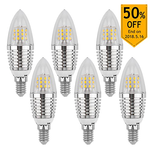 LEDMO 6er 7W E14 LED Kerzen Lampe ersetzt 60W Halogenlampen 630 Lumen weiß 6000K Nicht Dimmbar LED Lampen