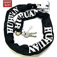 TriEcoWorld Chaîne de sécurité antivol résistante avec cadenas pour vélo et moto
