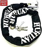TriEcoWorld robuste Anti-Diebstahl-Sicherheitskette mit Vorhängeschloss für Motorrad/Fahrrad/Mopeds, 1 m