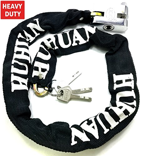 TriEcoWorld robuste Anti-Diebstahl-Sicherheitskette mit Vorhängeschloss für Motorrad/Fahrrad/Mopeds, 2 m