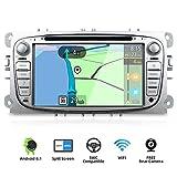 YUNTX Android 8.1 Autoradio para Ford Focus/Mondeo/S-MAX/Connect (2008-2011) | 2 DIN |Cámara Trasera y canbus Gratis| 7 Pulgada | 2GB/32GB | Soporte Dab+ | 4G | WLAN | Bluetooth | MirrorLink (Silver)