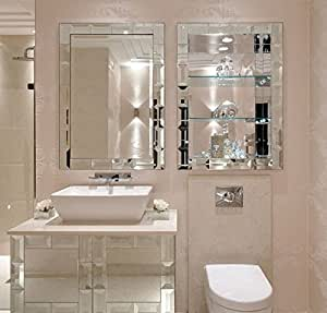 Buy bath room mirrors cabinet shelf online at low for Bathroom ideas amazon