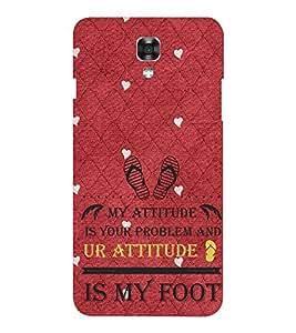 EPICCASE Got Problem With my Attitude Mobile Back Case Cover For LG X Power (Designer Case)