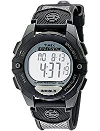 Timex Expedition Men's Digital Watch with LCD Dial Digital Display and Black Nylon Strap T40941