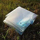 ZLL Telone da esterno impermeabile-Traslucido di spessore Tarpaulin balcone Riparo teli di plastica Telone di pioggia Capannone di stoffa Panno di isolamento serra-80G / M²,3 × 7M