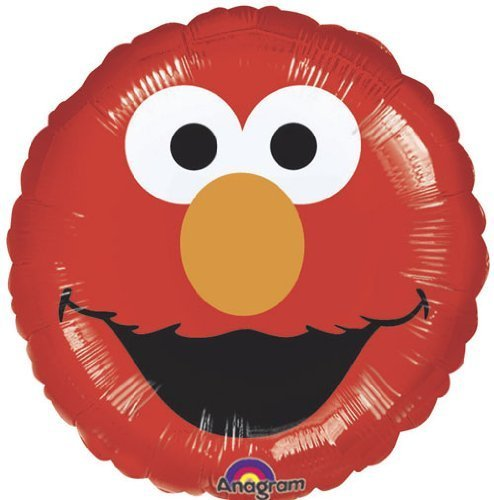 Single Source Party Supplies - 18 Elmo Face Mylar Foil Balloon by Single Source Party ()