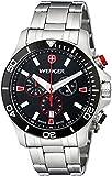 Wenger 0643.101 Men's Sea Force Black Dial Steel Bracelet Chronograph Dive Watch
