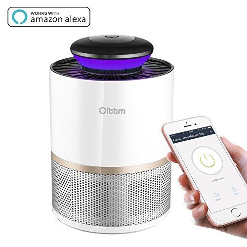 *Ottim Smart Moskito Killer Fliegenfalle Wifi Moskito Killer Nicht Toxische Mückenfalle Works with Alexa (NUR mit 5V Adapter-Weiß)*