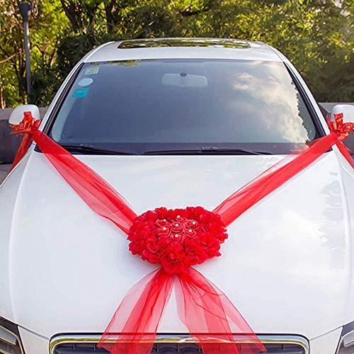 4c196dd8a Party DIY Decorations - Wedding Car Decorations Kit Set Artificial Silk  Flower Ribbon Bows Diy -