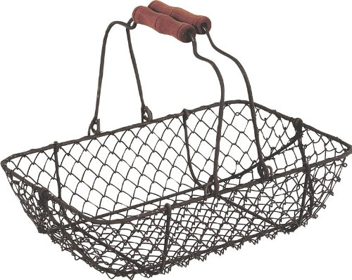vintage-wire-metal-basket-rectangular-rustic-brown-garden-wedding-shabby-trug-by-homes-on-trend