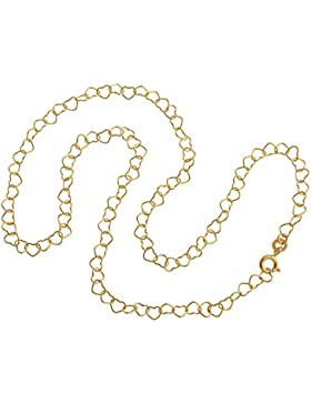 Kinderkette Herzen, Goldkette - 333 Gold - Länge wählbar 32-37cm