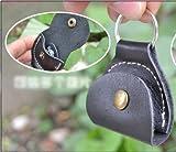 Plektrumhalter aus Leder, mit Schlüsselanhängerring