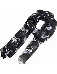 SWT Vogue Lady Zebra Druck Schal Tier Design Große Lange Schal - Schwarz