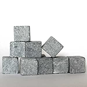 Hukka Design - Whisky rocks / Ice stones - Soapstone, 10 pcs. Tested for food stuffs products (Original from Finland) [17009]
