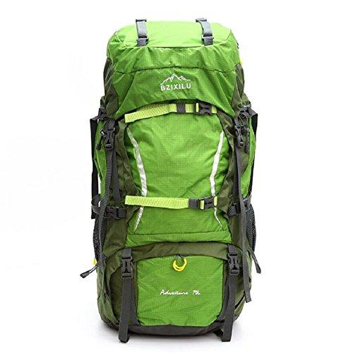 LJ&L Zaino da viaggio regolabile all'aperto da viaggio, borsa da alpinismo da 70 litri di grande capacità, zaino di alta qualità resistente alla copertura di pioggia,A,70L A