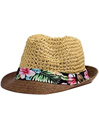 935fdda20c66 Outflower Stylish Couple Caps Straw Hat Clothing Accessories Summer Sun  Protection Sun Hat Beach Panama Hat Men…