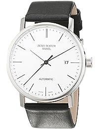 Zeno Watch Basel 3644-i3 - Reloj analógico automático para hombre con correa de piel, color negro