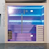 "Sauna PS 1406"", weißes Pinienholz, Design Sauna, Wärmekabine, Sauna, Saunakabine"
