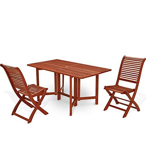 Table rectangulaire pliante 74 x 150 x 80 table de jardin mod.Coquelicot en bois de keruing à transformation artisanale, table de bois dur usage extérieur, table pliante en Keruing 74 x 150 x 30 de fermé.
