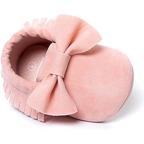 Ularma Zapatos de bebé con borlas y Bowknot, niño zapatillas de deporte, zapatos ocasionales