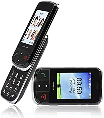 Olympia Brio - Teléfono móvil para personas mayores (táctil, con tapa deslizante)
