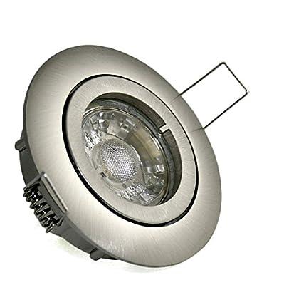 6er Set Einbaustrahler Sue 230V GU10 IP20 Farbe Edelstahl gebürstet 5 Watt Power LED Warmweiss entspricht 50 Watt Dimmbar von Kamilux bei Lampenhans.de