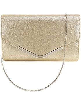 Elegant Clutch Tasche Handtasche umklappende Dekel Abendtasche Hochzeit Party?golden
