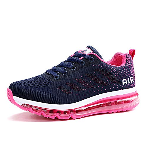 Homme Femme Air Baskets Chaussures Gym Fitness Sport Sneakers Style Running Multicolore Respirante Blue Plum 36