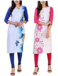 Mastani Kreation's Straight Digital Printed Kurti for women and Girls Formal Wear