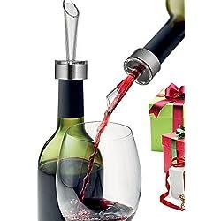 Enjoy-Arts Décanteur Aérateur de vin/Aérateur à Vin de Luxe Filtre avec Support et Socle pour Amateur de vin
