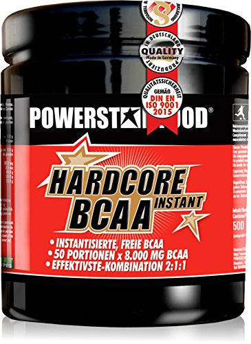 Perfekt auflösendes Hardcore BCAA Instant - Premium Pre- und In-Workout Pulver mit der absolut stärksten Hardcore Dosierung - 100% Muskelschutz - 500g – Made in Germany (Ginger Orange)