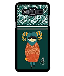 Fuson 2D Printed Sunsign Aries Designer back case cover for Samsung Galaxy On5 - D4408