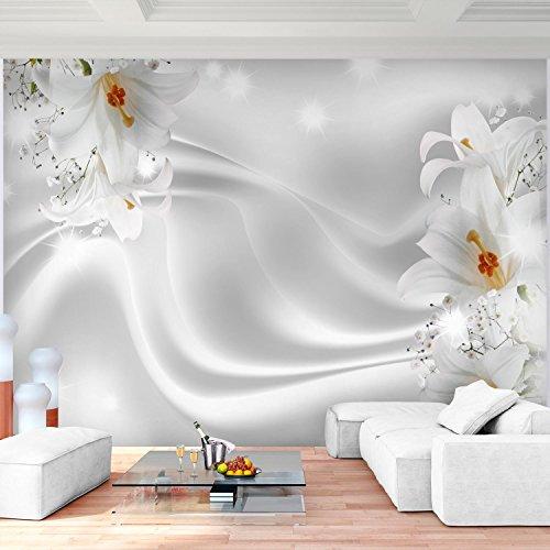 Sfondo fotografico fiori gigli 396 x 280 cm lana sfondo salotto camera da letto ufficio corridoio decorazione murali decorazione da muro moderna - 100% fatti in germania - 9186012c