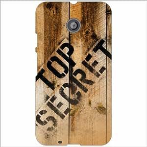 Motorola Moto E (2nd gen) Back Cover - Top Secret Designer Cases