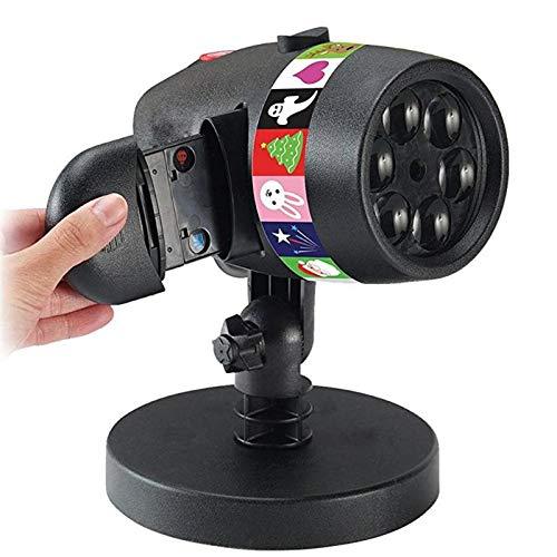 LIKEAD Dias Projektionslicht Weihnachten Laser Projektor 12 Sätze Von Cards15lm USB Lade Licht Bühne Licht Halloween Urlaub Dekoration Lampe,Euplug