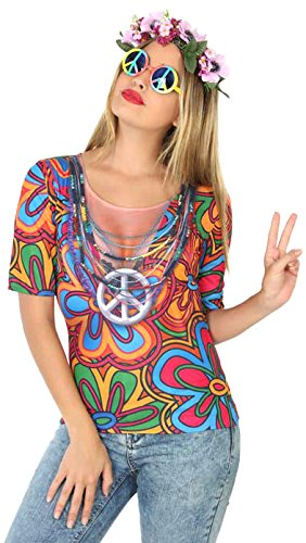 ATOSA 9664 Hippie Girl 3D T-Shirt