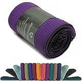 Manta para yoga »Chandra« / La manta para yoga pensada para Hot Yoga / complemento para ejercicios de yoga y para la relajación posterior / 183 x 61 cm, disponible en muchos colores / violeta