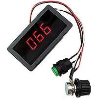 Regulador de velocidad de motor Lejin Digital LED cc PWM, sin niveles con pantalla digital cc 6V, 12V, 24V maxMotor 8A.