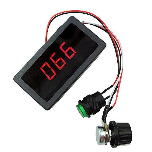 lejin Digital LED Variateur de vitesse moteur DC PWM réglage de la vitesse avec affichage numérique DC 6V 12V 24V max. 8A Moteur