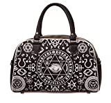 BANNED BLACK OCCULT OUIJA BOARD HANDBAG BAG WITCHCRAFT GOTH BIKER DARK ARTS BEDLAM