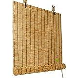Tenda oscurante- Tende a Rullo in bambù per divisorie per Interni ed Esterni, Tende in Paglia, persiane retrò, ombreggiatura per Uso Domestico, Dimensioni Personalizzabili