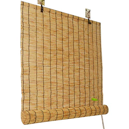 Tende a rullo in bambù per divisorie per interni ed esterni, tende in paglia, persiane retrò, ombreggiatura per uso domestico, dimensioni personalizzabili