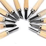 #2: Alcoa Prime 12pcs/set Hot Sale Wood Lathe Handle Carpenters Carving Chisels Kit DIY Handy Tools Set Lowest Price Top Quality