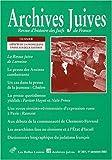 Archives juives n°36/1: Aspects de la presse juive entre les deux guerres...
