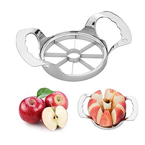 Edelstahl Apple Slicer Corer, Apple Cutter Divider Keil 8 Klingen - Rasiermesser Scharf, Rutschfeste & Gute Griff Küchenhelfer Progressive Apple