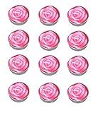 Leisial 12 Stück Teelicht Set Kreative Kerze Romantisches Rose Teelicht Rauchfrei Teelicht für Geburtstag,Vorschlag,Hochzeit,Party, Rosa