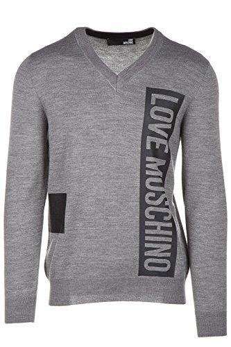 Love Moschino maglione maglia uomo collo a V grigio EU M (UK 38) M S 69V 01 X 0377 41
