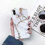 LIUSHENQING Etui pour téléphone Portable Coque en marbre pour iPhone 8 Coque pour iPhone X 8 7 6 6 S Plus Slim Housse Souple XS Max XR 8 Plus 7Plus